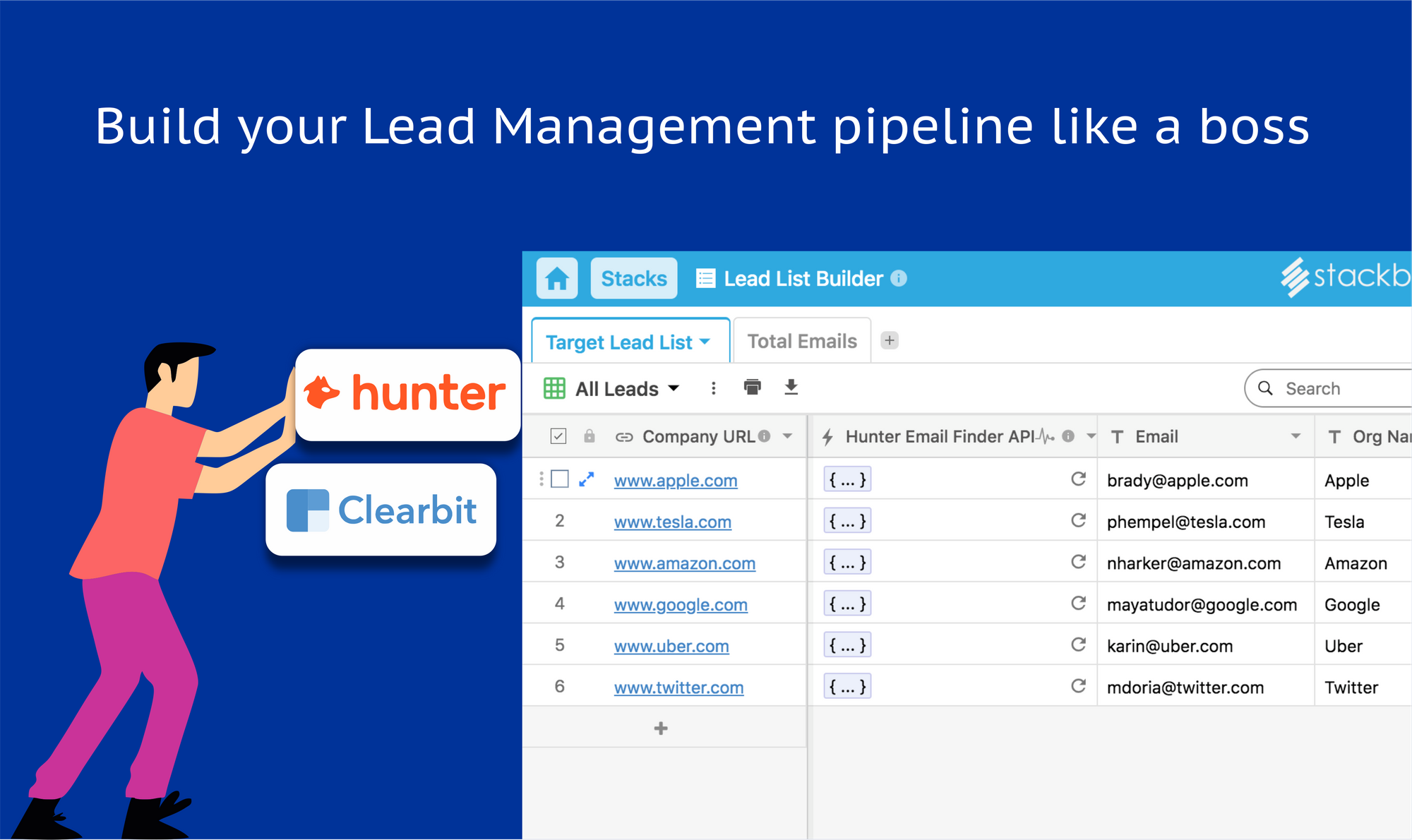 Build your Lead Lists in seconds