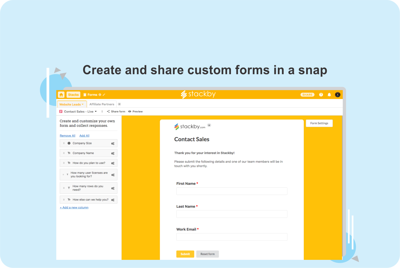 Introducing Stackby Forms